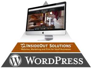 A WordPress website, along with design and managed hosting from InsideOut Solutions, creates a strong foundation for your online marketing.