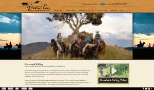 blacktailranch.com dude ranch web design after redesign by InsideOut Solutions