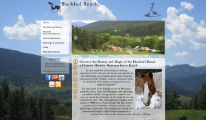 blacktailranch.com dude ranch web design before redesign by InsideOut Solutions