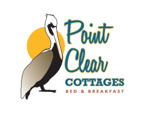 Point Clear Cottages Logo design