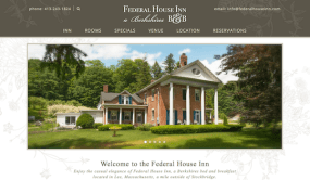 Federal House Inn website - layout