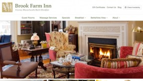 Brook Farm Inn Website - before the new responsive WordPress website from InsideOut Solutions