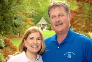 Trish & Kevin Robinson - innkeepers of the Cape Cod bed and breakfast The Captain's Manor Inn in Falmouth, Massachusetts