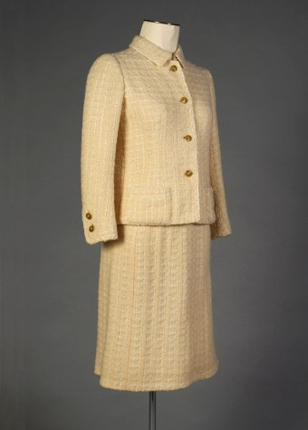 Chanel suit of yellow wool, 1960s