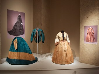 Dresses from 1850s and 1860s