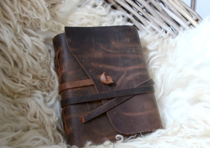 rustic leather bound journal