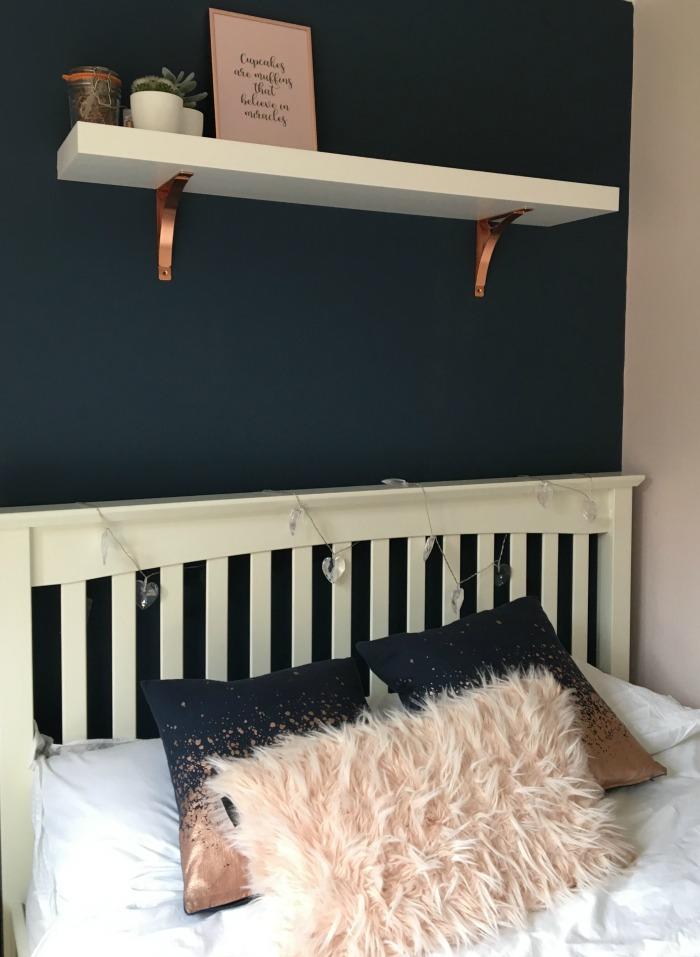 Rose Gold And Navy Blue Bedroom Decor Novocom Top