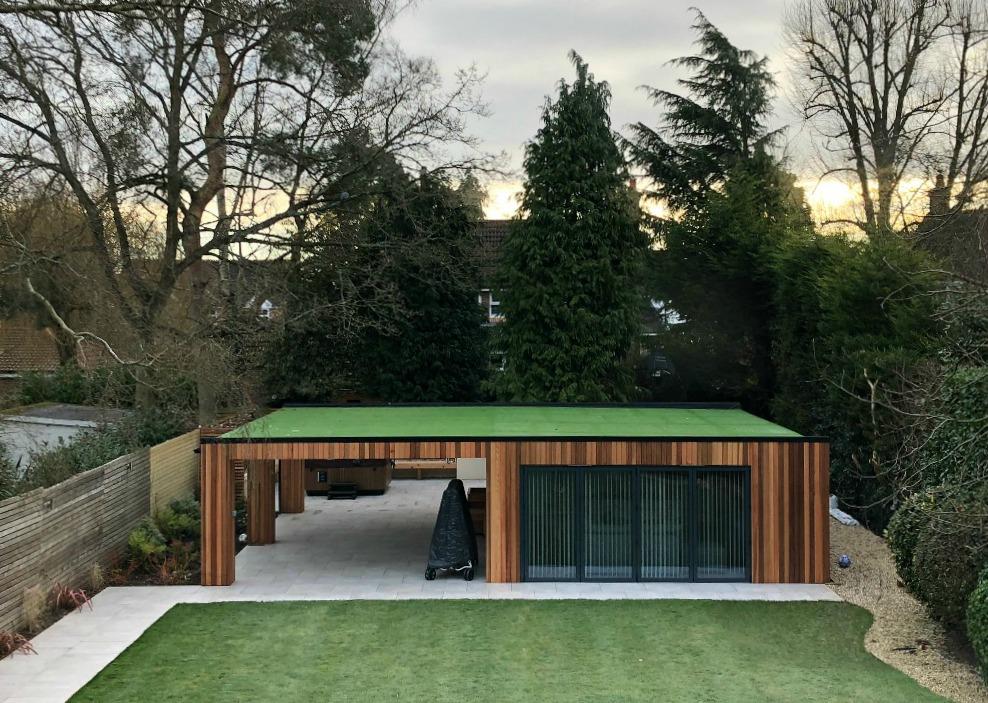 cedar wood garden room