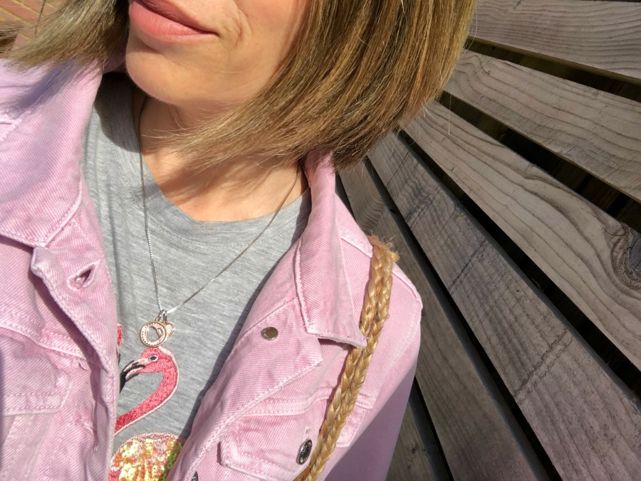 pink denim jacket mango
