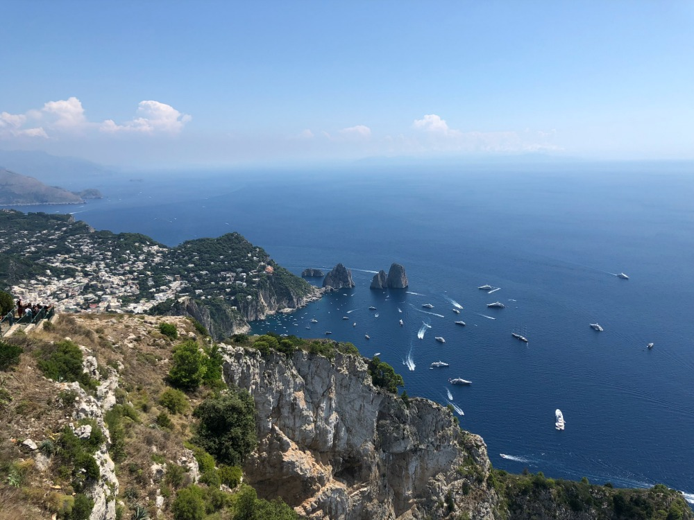 View from the top of Capri island