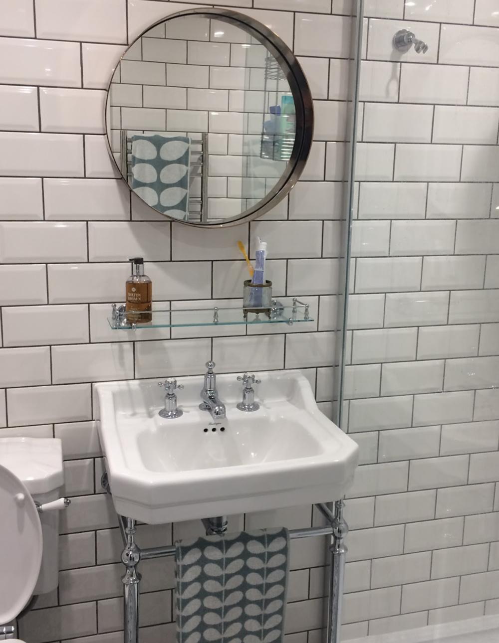 white shower room