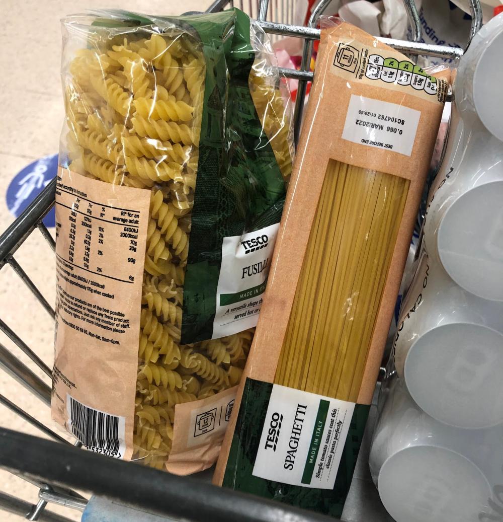 pasta lockdown