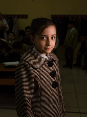 Student at the Friendship School in Gaziantep, Turkey, by David Gross