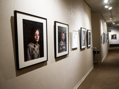 David Gross' exhibition of the Inside-Outside project at the World Affairs Council of San Francisco.