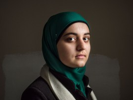 Safiya, age 15, from Idlib, is a Syrian refugee student at a the Free Syria school.