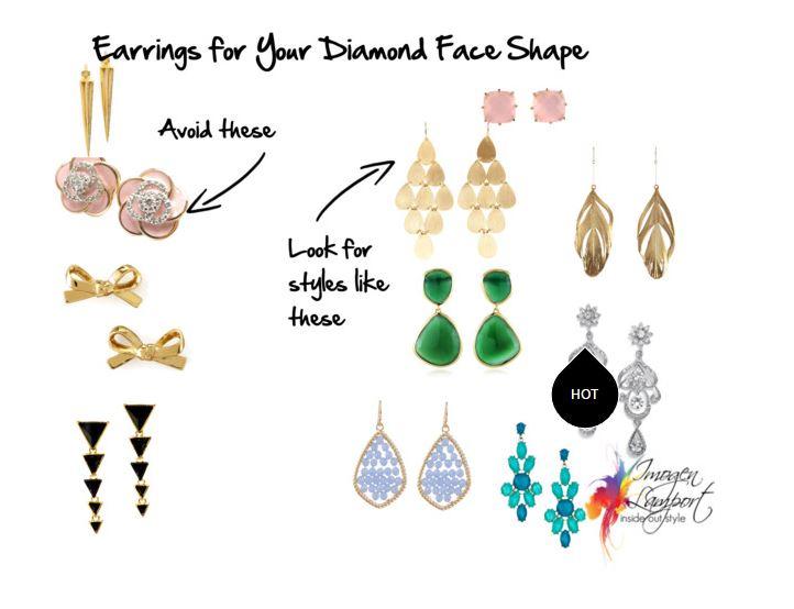 Choosing Earrings That Suit Your Diamond Face Shape