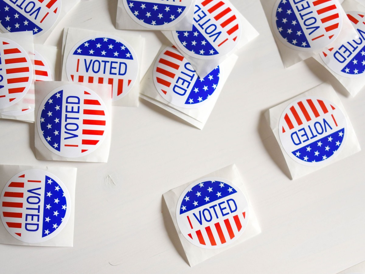 "Stock image of stickers saying ""I Voted"""
