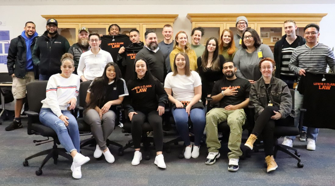 Joe O'Leary's juvenile justice seminar poses for a final class photo.