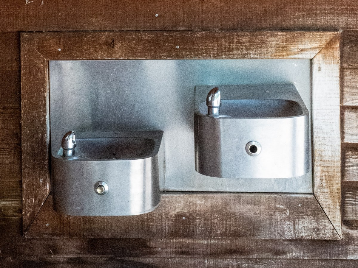 water fountains attached to a wall