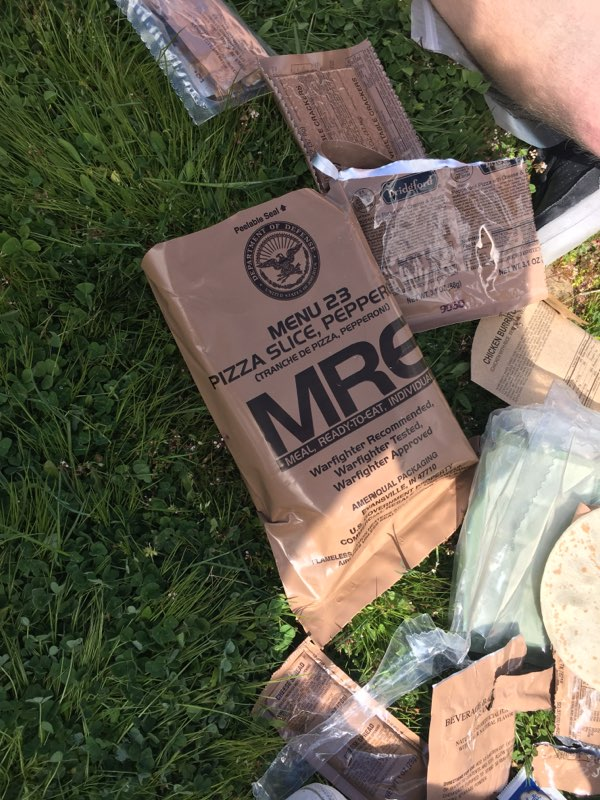 MRE package, meals ready to eat