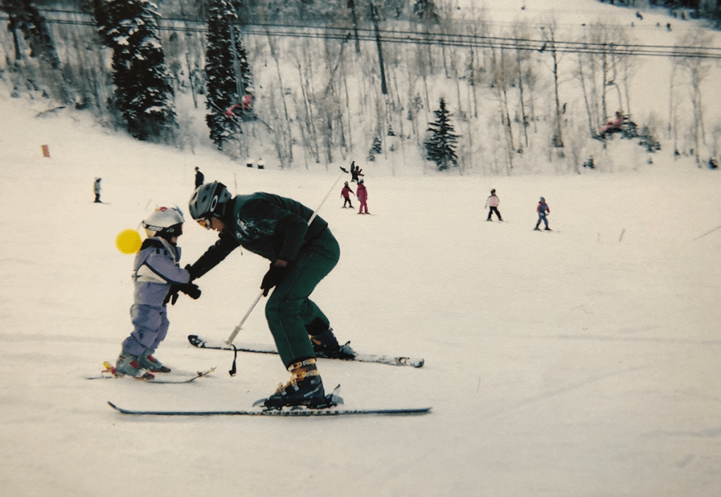 Whitney Tallman Skiing 3 years Old