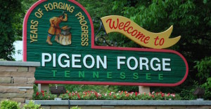 Welcome to Pigeon Forge sign