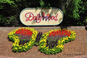 Dollywood sign in Pigeon Forge