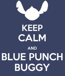 Blue Punch Buggy!