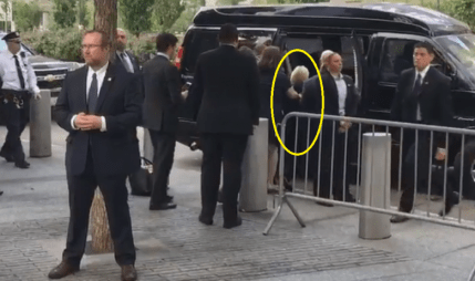 Image result for hillary falling into van