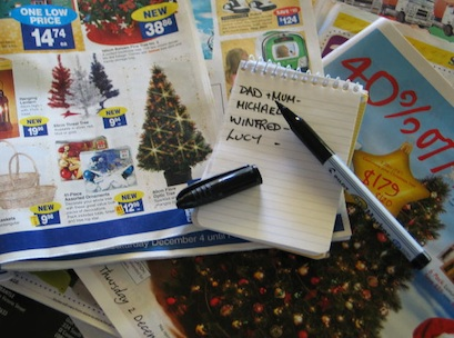 Christmas, catalogue