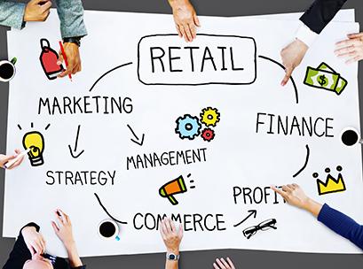 Retail E-commerce Marketing Investing Consumer Concept