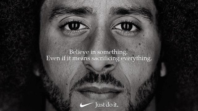 Image of Nike ad featuring Colin Kaepernick