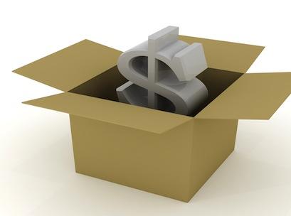 dollar in the box
