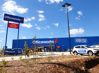 officeworks exterior