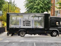 Thankyou truck with global campaign messaging