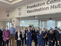 First shopping centre-based vaccination hub opens in Melbourne