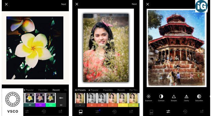 Top 5 Photo Editing Apps- VSCO
