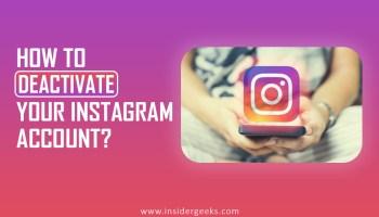 How to Deactivate Instagram account?