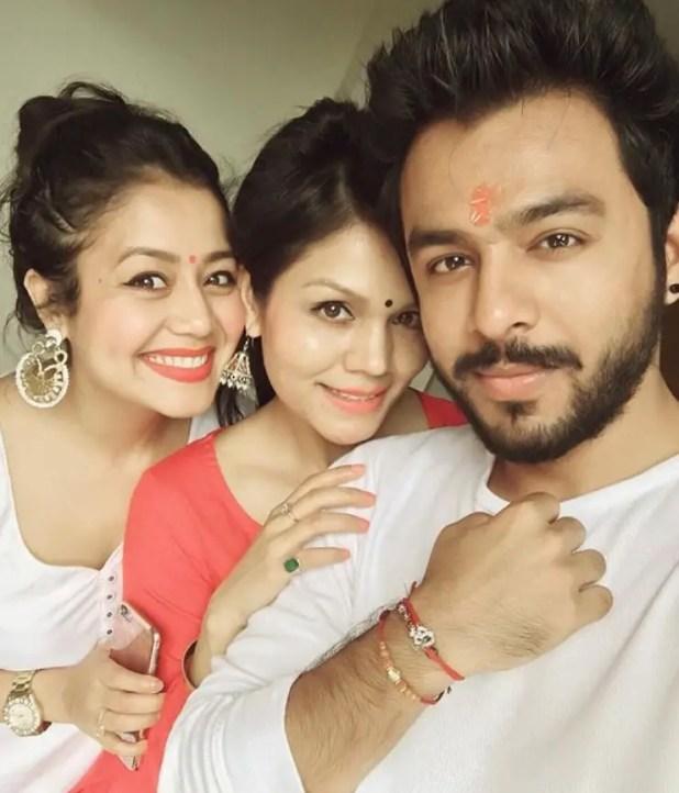 Tony kakkar and her tow sister sonu kakkar and Neha Kakkar