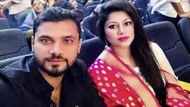 Mashrafe Mortaza and her wife photo