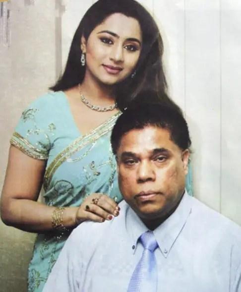 Eva Rahman with husband dr mahfuzur rahman