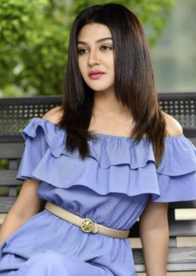 Jaya Ahsan In blue dress