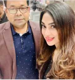 Popy with Monir Khan