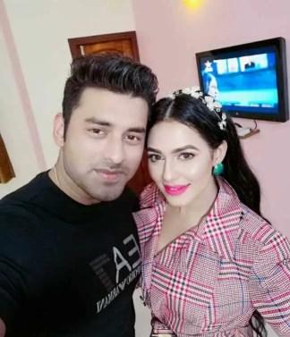 Nuarat Faria with Ankush Hazra Picture