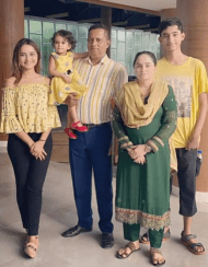 Payelia Payel with family Photo