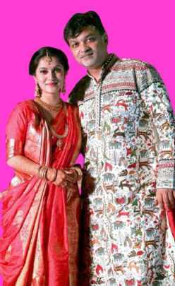 Srijit Mukherjee With her Second Wife