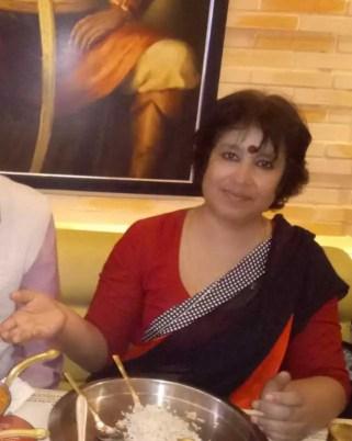 Taslima Nasrin with Foods Image
