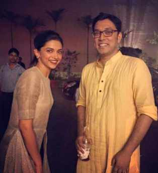 Anupam Roy with Deepika Padukone