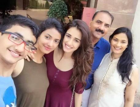 Disha Patani with her Family