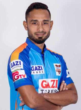 Mohammad Mithun with Gazi Group Chattogram Jersey Photo